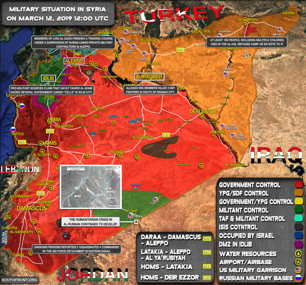 Military Situation In Syria On March 12, 2019 (Map Update)