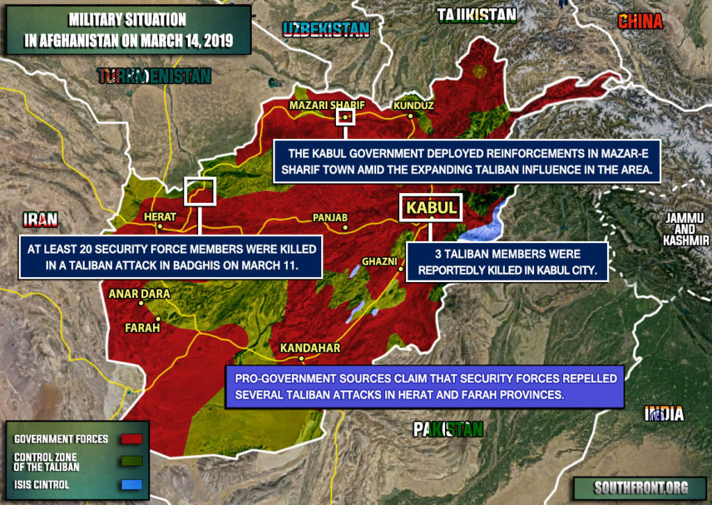 Military Situation In Afghanistan On March 14, 2019 (Map Update)