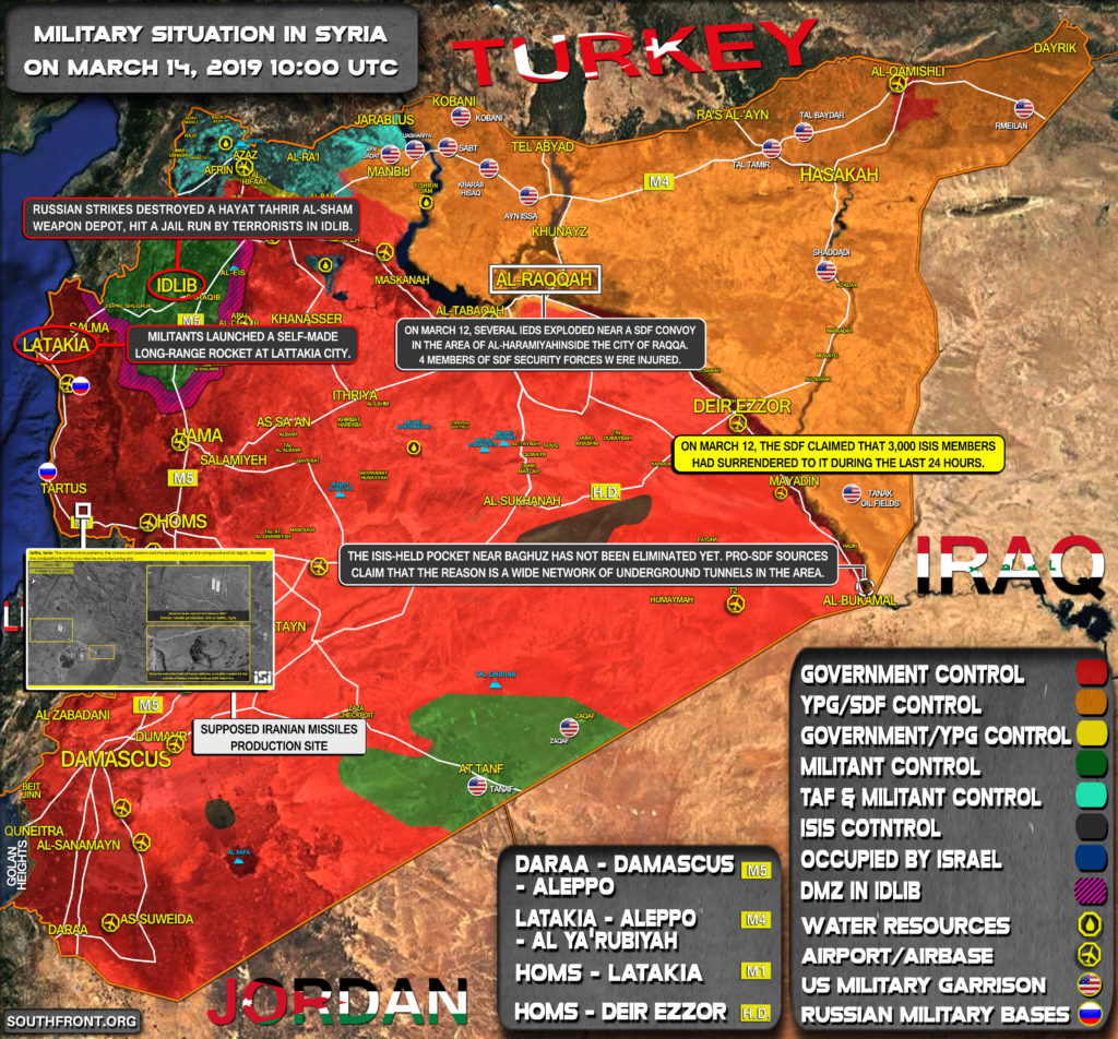 Military Situation In Syria On March 14, 2019 (Map Update)