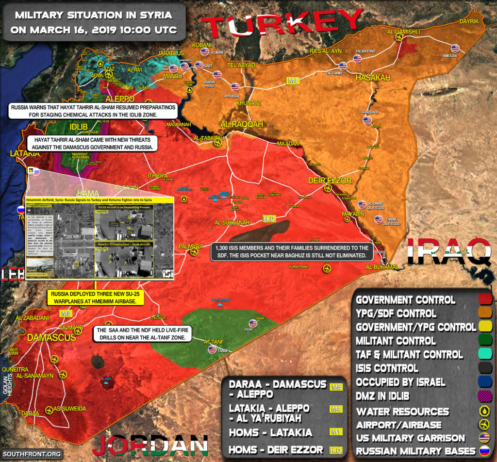 Military Situation In Syria On March 16, 2019 (Map Update)