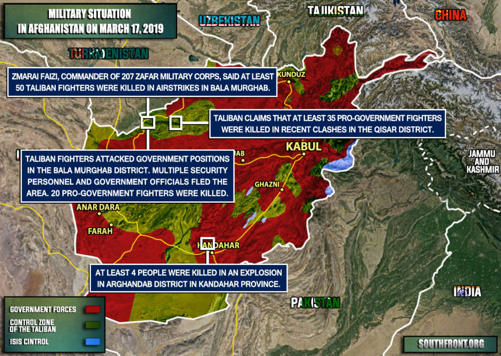 Military Situation In Afghanistan On March 17, 2019 (Map Update)