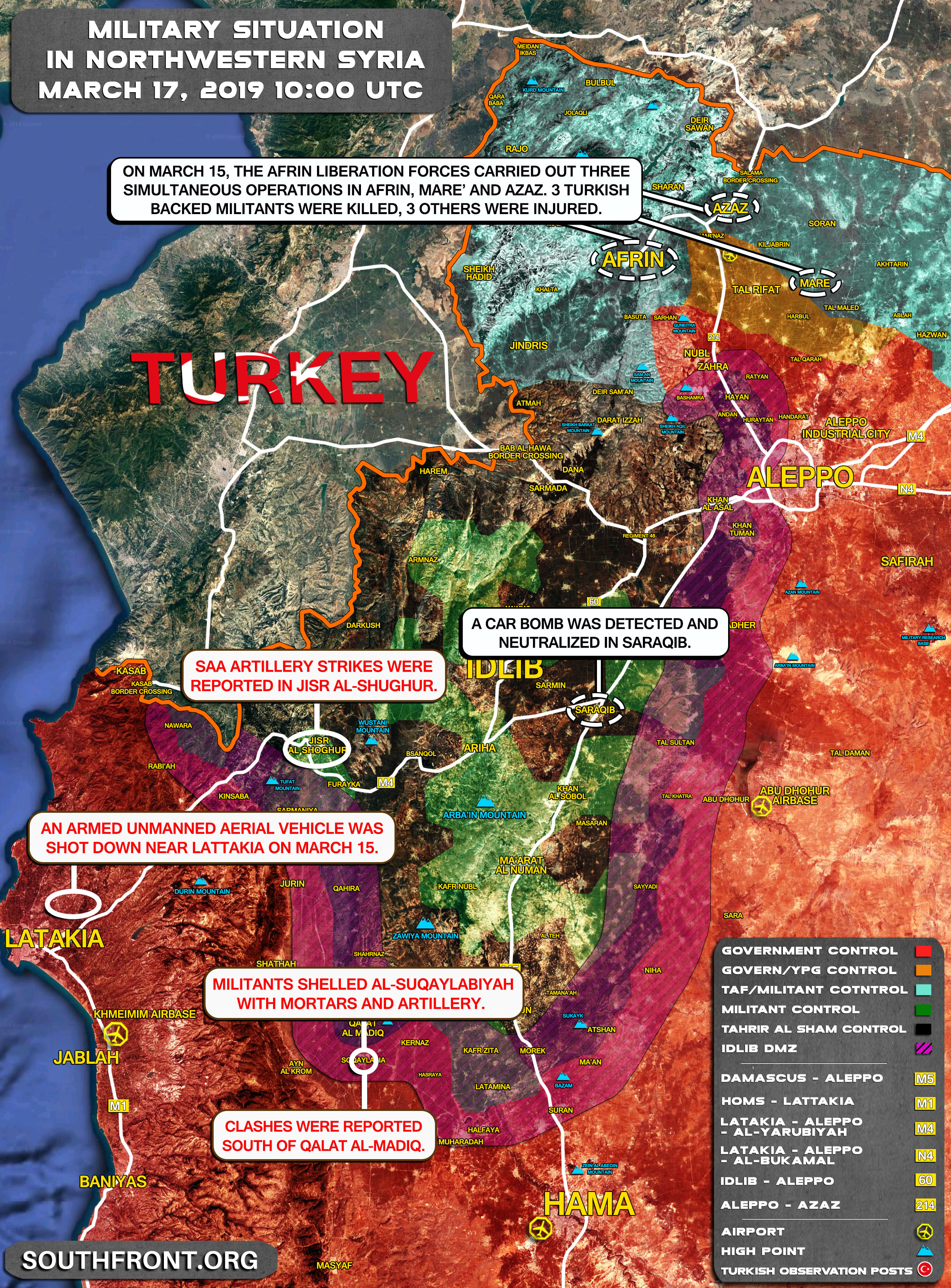Map Update: Idlib De-Escalation Agreement Continues To Shrink Amid on