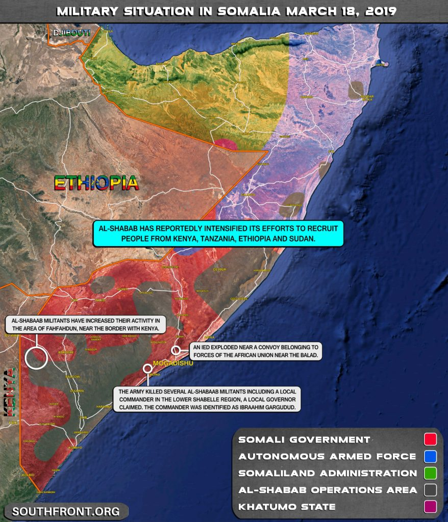 Military Situation In Somalia On March 18, 2019 (Map Update)