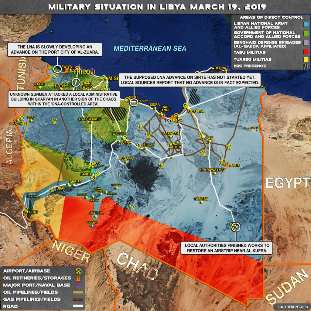 Military Situation In Libya On March 19, 2019 (Map Update)