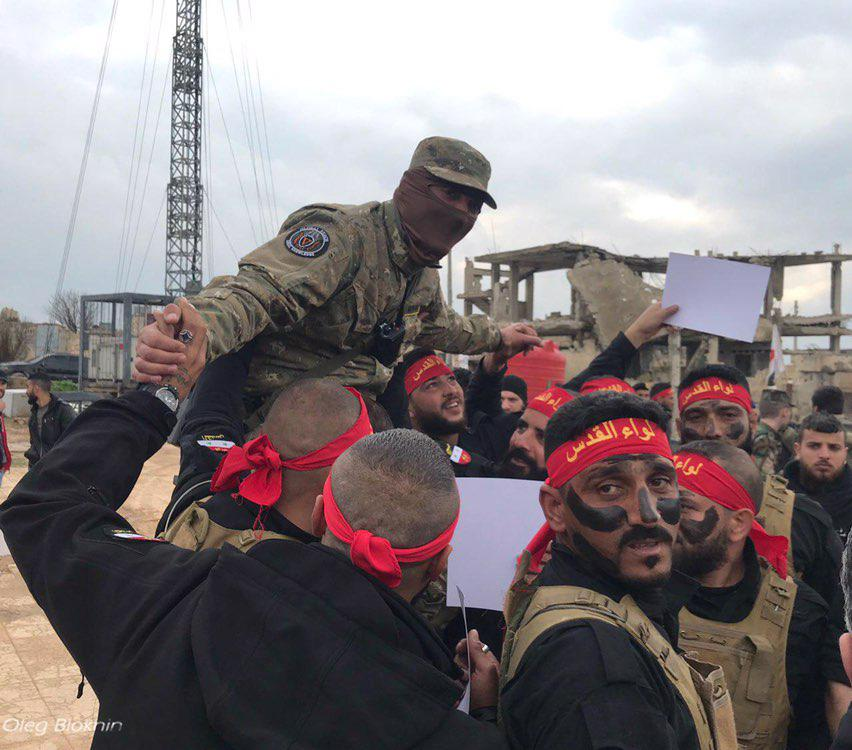 In Photos: Liwa al-Quds Members Express Gratitude To Russia-linked Private Contractors After Training Course Near Aleppo