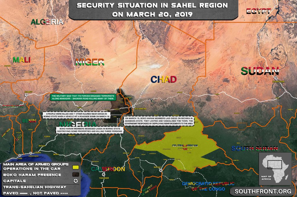 Map Update: Boko Haram Stormed Several Villages In Northeastern Nigeria