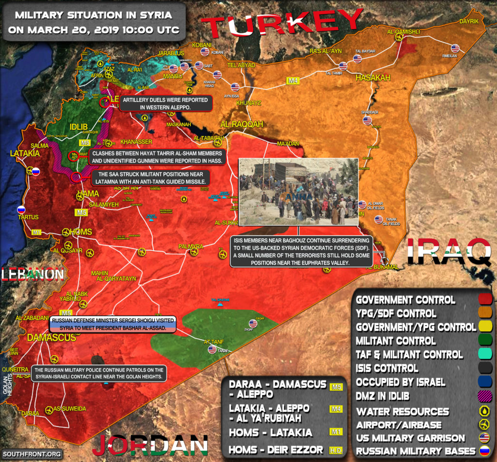 Military Situation In Syria On March 20, 2019 (Map Update)