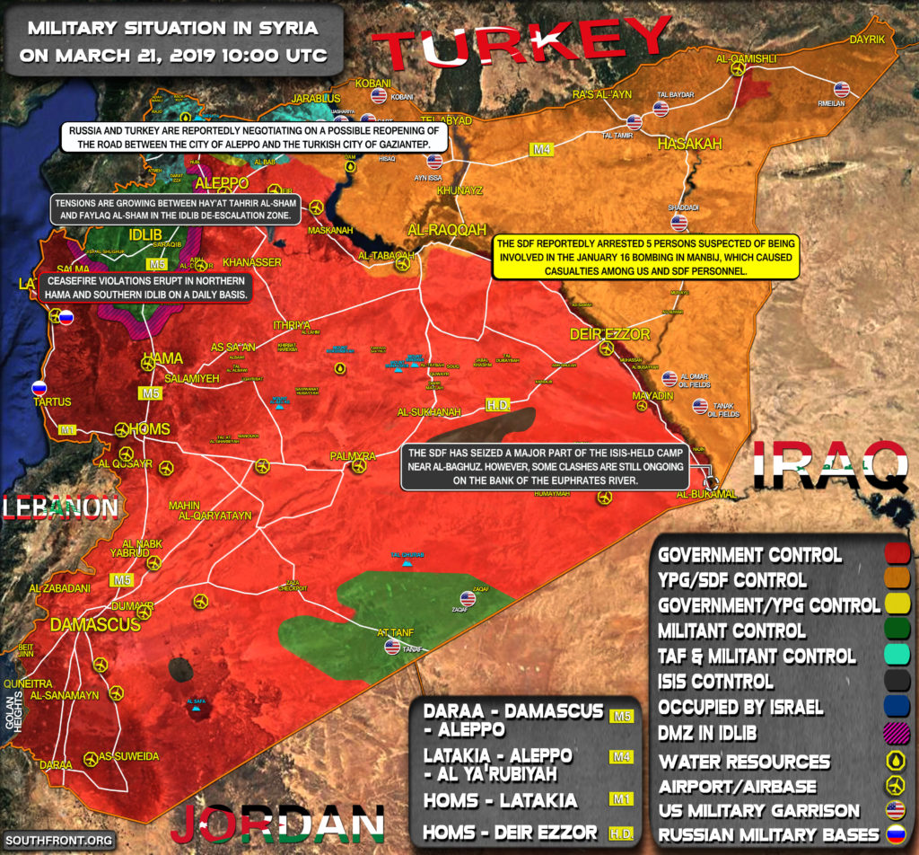 Military Situation In Syria On March 21, 2019 (Map Update)