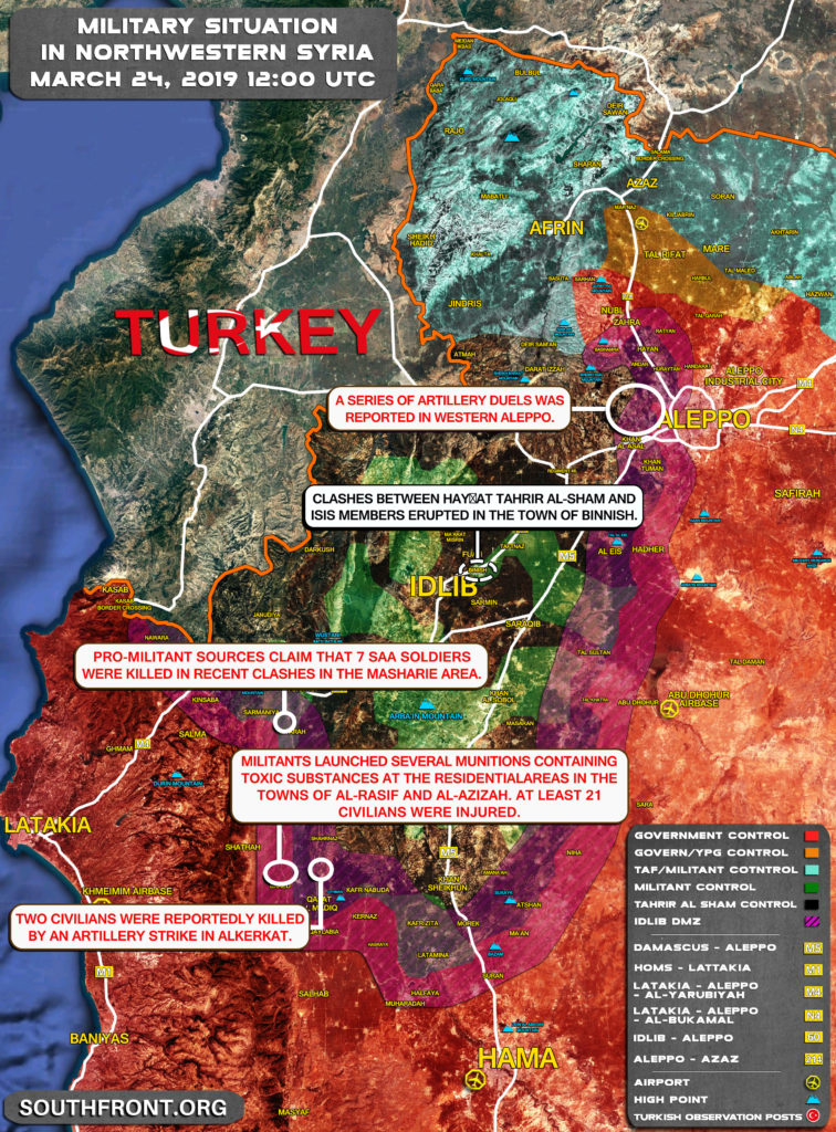 Map Update: Situation In Idlib De-Escalation Zone Worsening Day By Day