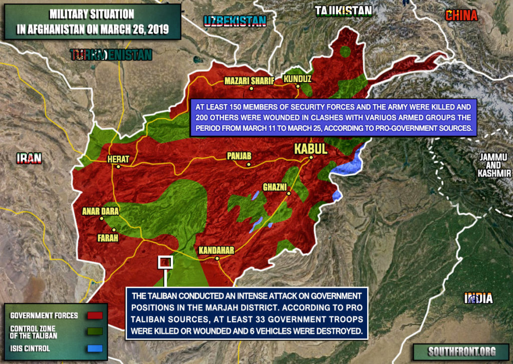 Afghanistan Map Update: At Least 150 Pro-Govovernment Fighters Were Killed, 200 Wounded In March 11-25