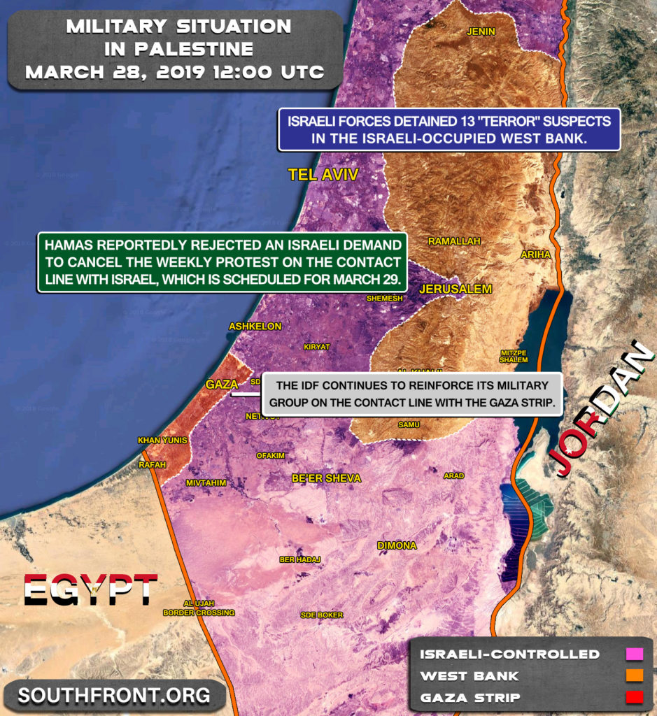 Map Update: IDF Continues To Delpy Troops & Equipment On Border With Gaza
