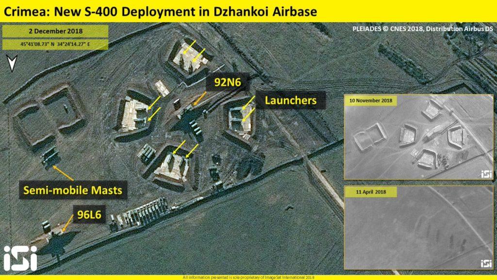 Satellite Images: S-400 Position Near Dzhankoi Airbase In Russia's Crimea