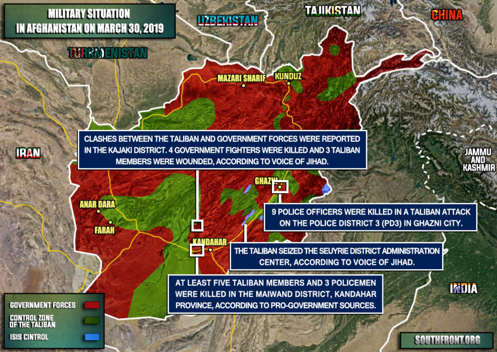 Military Situation In Afghanistan On March 30, 2019 (Map Update)