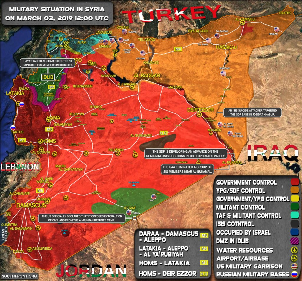 Military Situation In Syria On March 3, 2019 (Map Update)