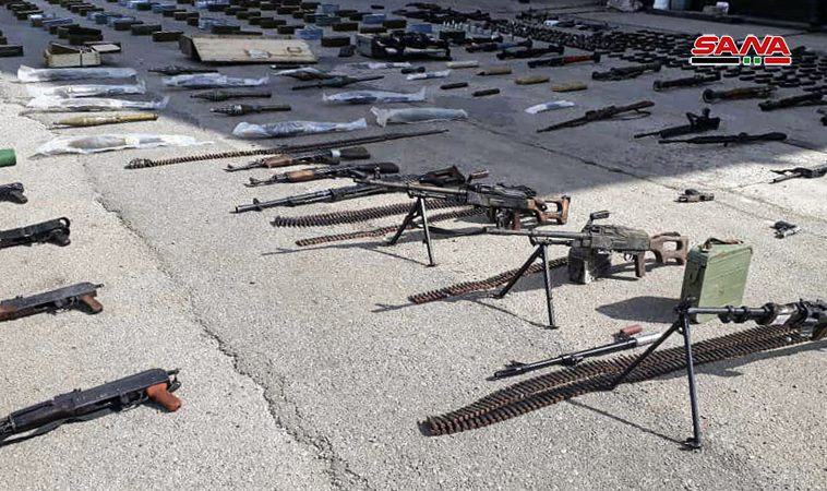 Syrian Army Uncovers Loads Of Weapons In Northern Homs (Photos)