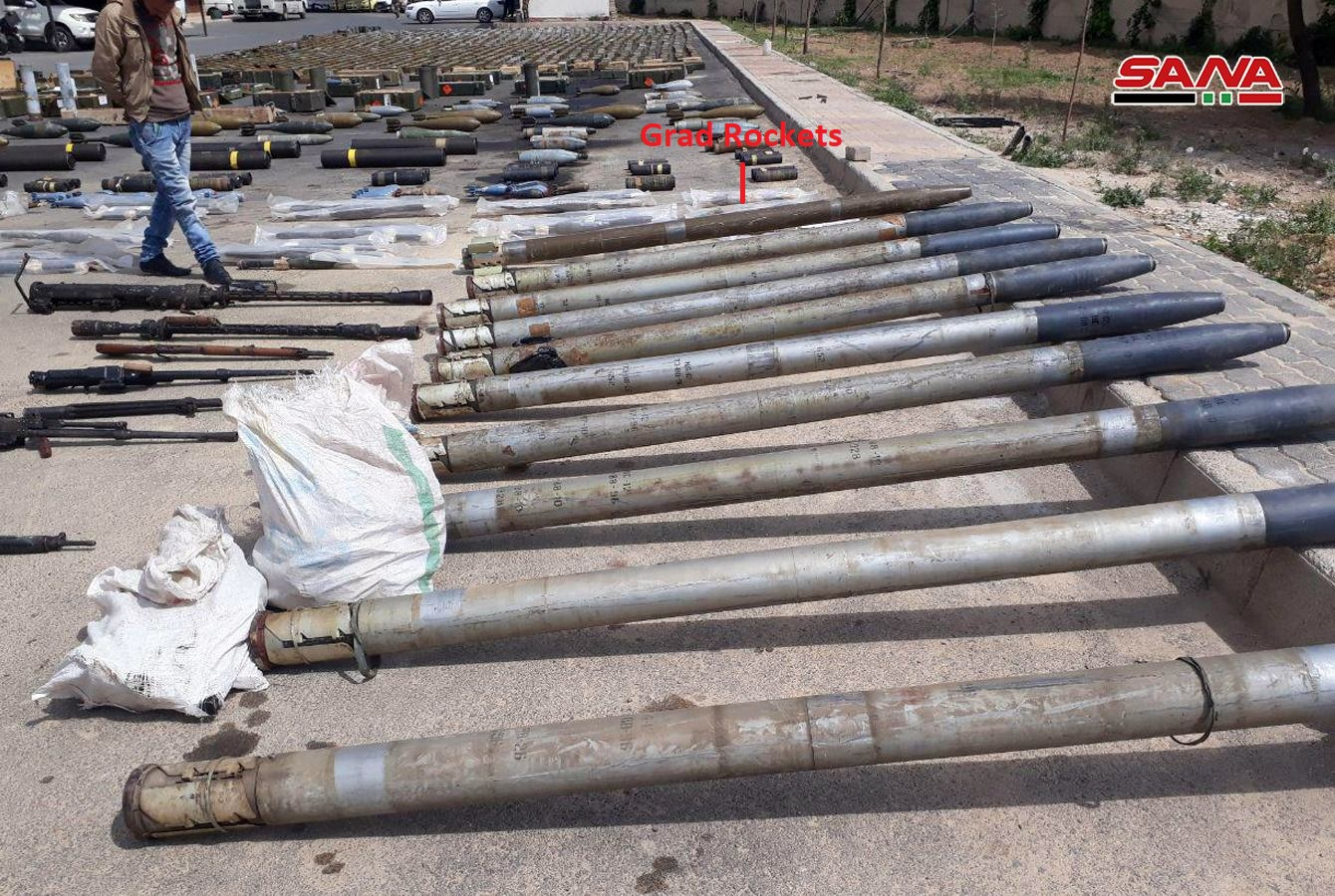 Syrian Army Uncovers Loads Of US-Supplied Weapons, Including TOW Missile, South Of Damascus (Video, Photos)