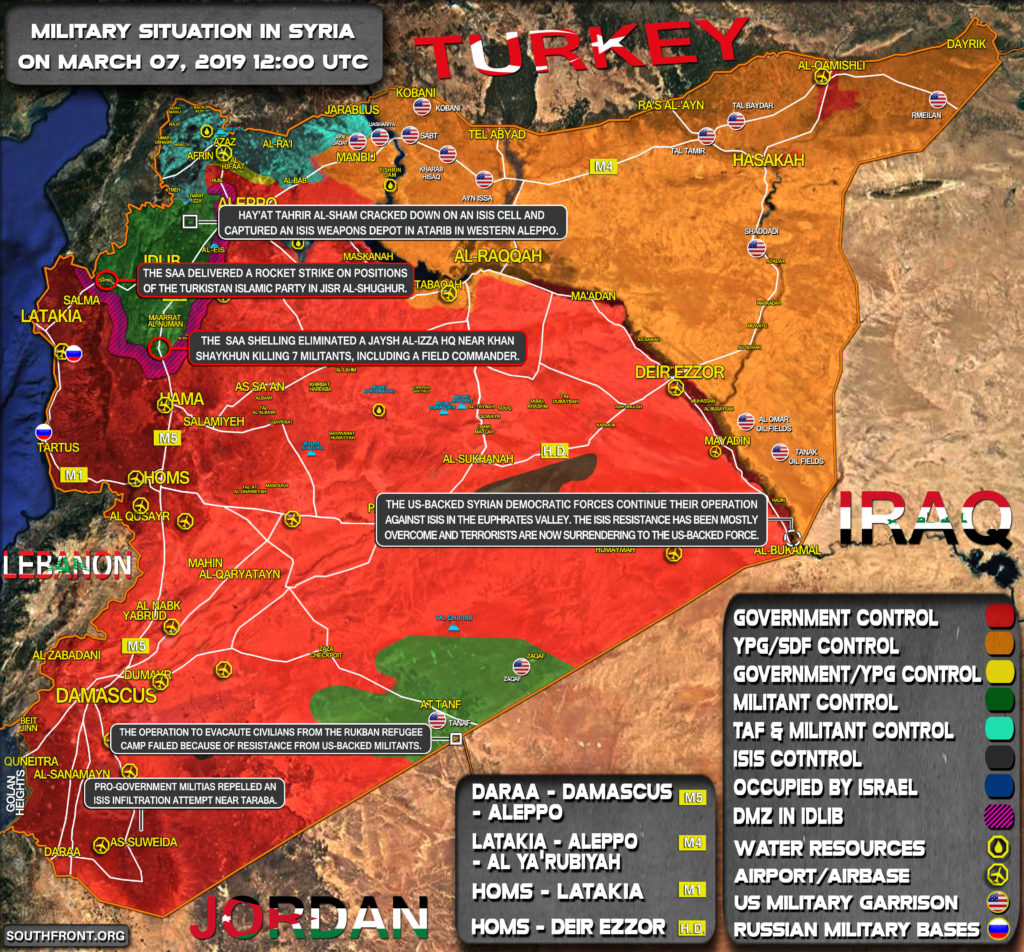 Military Situation In Syria On March 7, 2019 (Map Update)