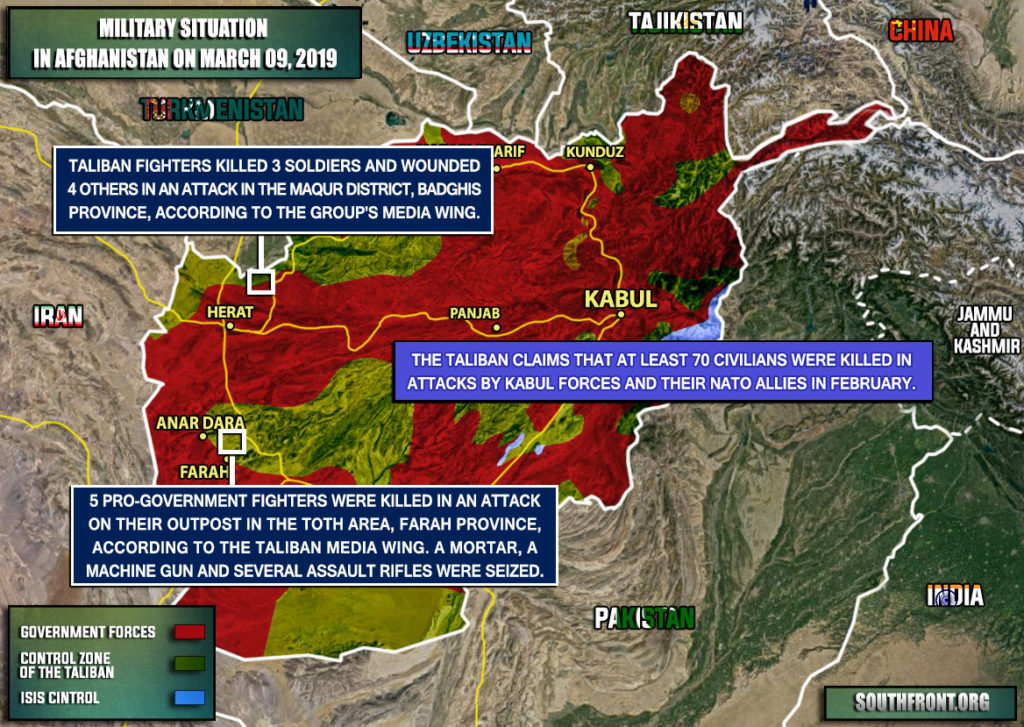 Military Situation In Afghanistan On March 9, 2019 (Map Update)
