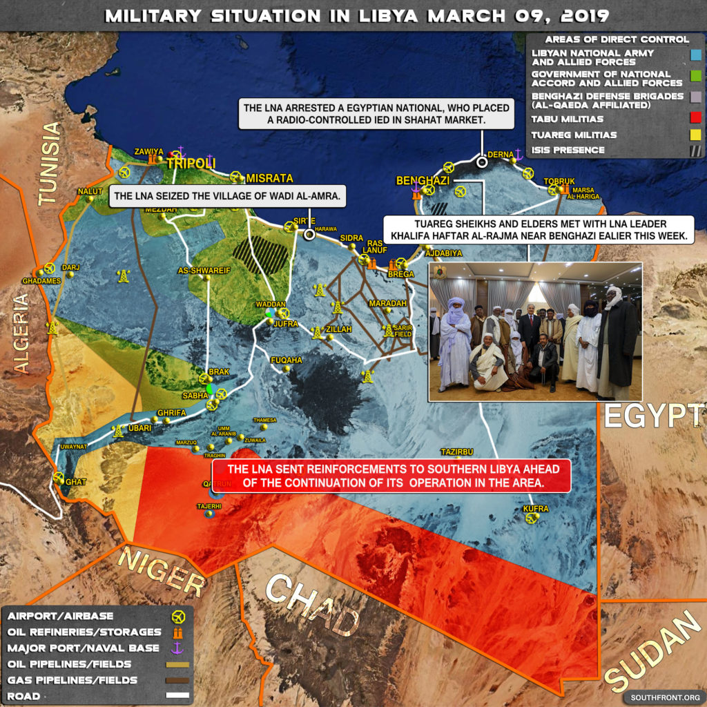 Map Update: Military Situation In Libya On March 9, 2019