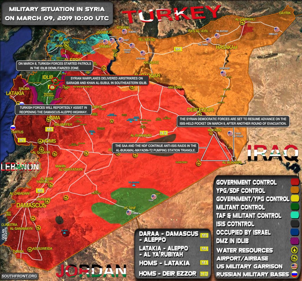 Military Situation In Syria On March 9, 2019 (Map Update)