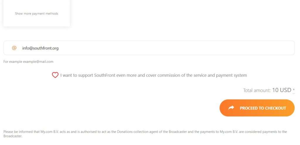 Issues With PayPal Donations To SouthFront