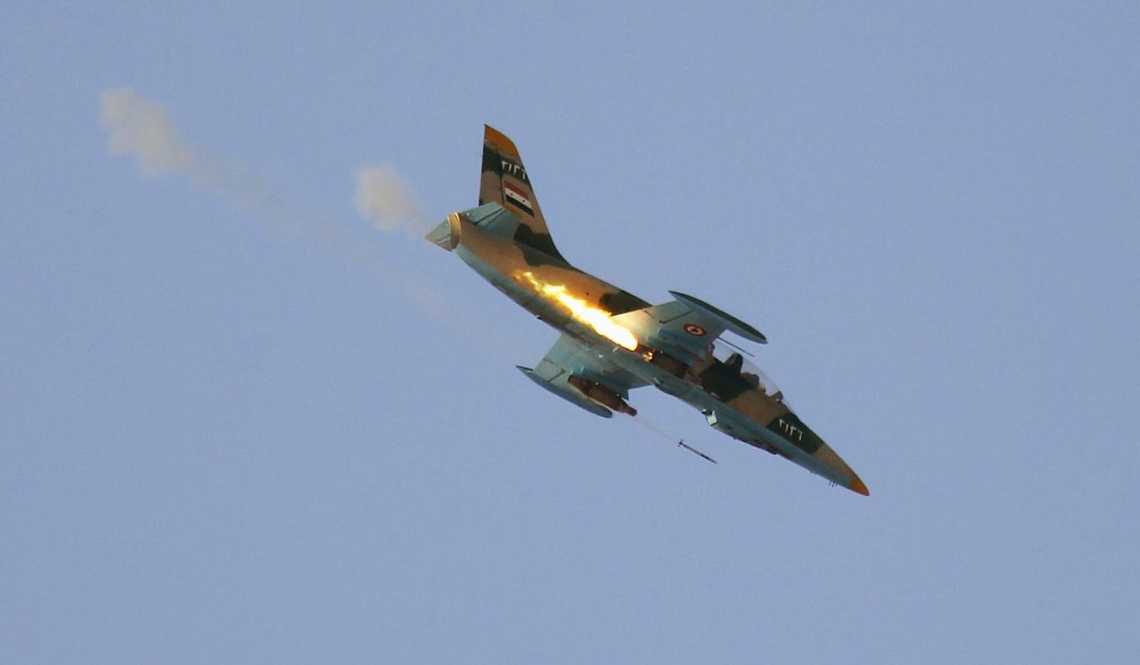 Syrian L-39 Warplanes Pound Militant Positions In Southeastern Idlib