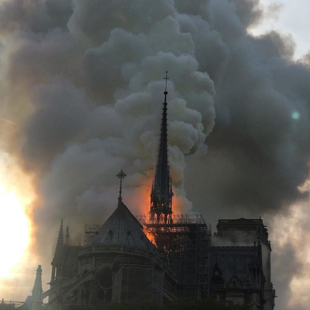 Notre Dame Cathedral In Paris On Fire: Central Spire Already Collapsed (Photos, Videos)