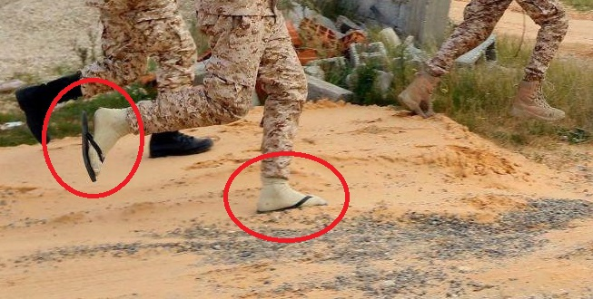 Photo: Tactical Pool Shoes - Secret Weapon Of Pro-GNA Forces In Battle For Tripoli