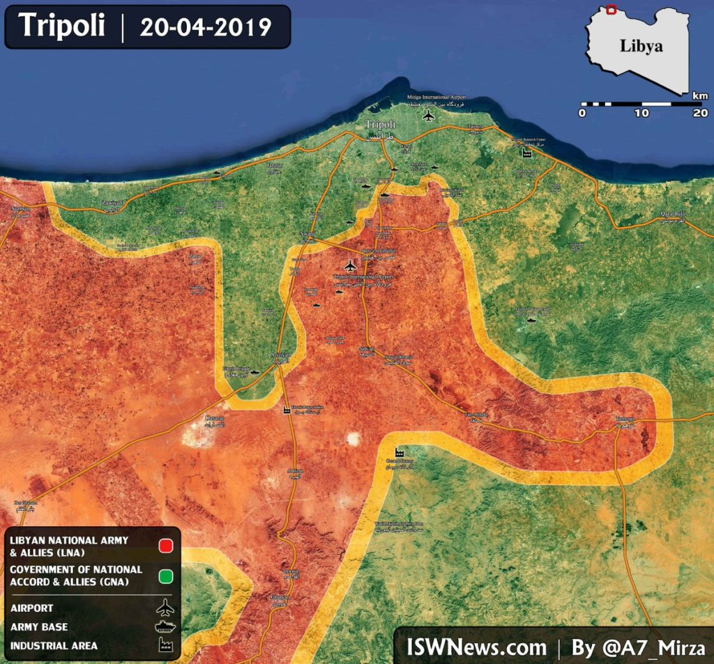 In Maps: Military Situation In Libya On April 21, 2019