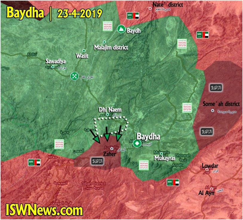 Yemen Map Update: Military Situation In Baydha, Dhale, Hudaydah, Hajjah, Saadah, Al Jawf Areas