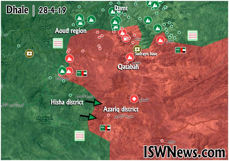 Map Update: Ansar Allah Pushes To Isolate Qatabah City Held By Saudi-led Coalition