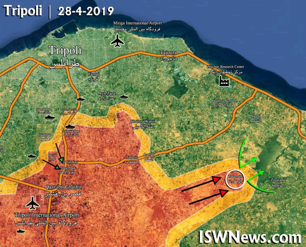 Libyan National Army Reshapes Its Efforts In Battle For Tripoli, Aims To Isolate City (Map Update)