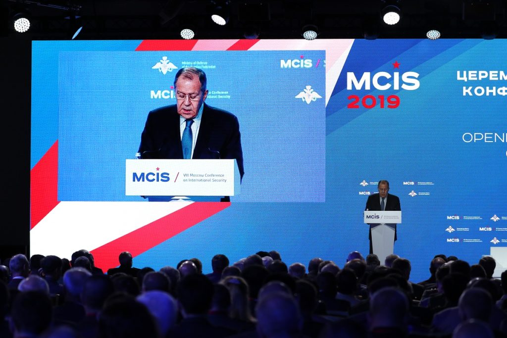 Russian Foreign Minister's Remarks at the Moscow Conference on International Security, Moscow, April 24, 2019