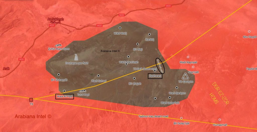 Map Update: ISIS Presence In Central Syrian Desert