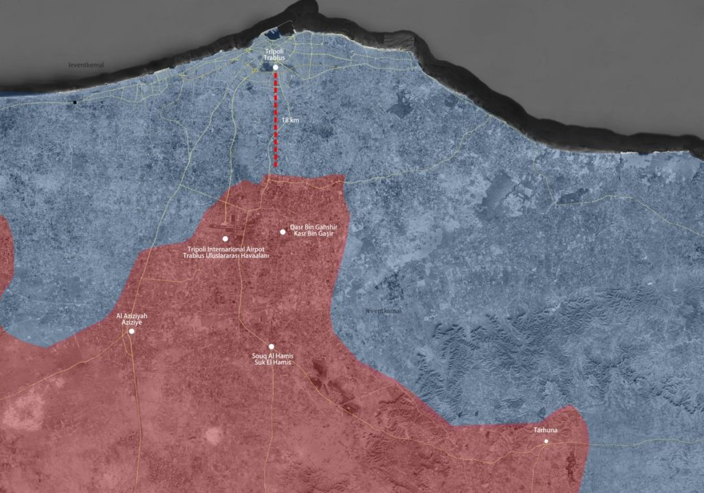 Libyan National Army Captured Tripoli Airport From Pro-Western GNA Forces (Map)