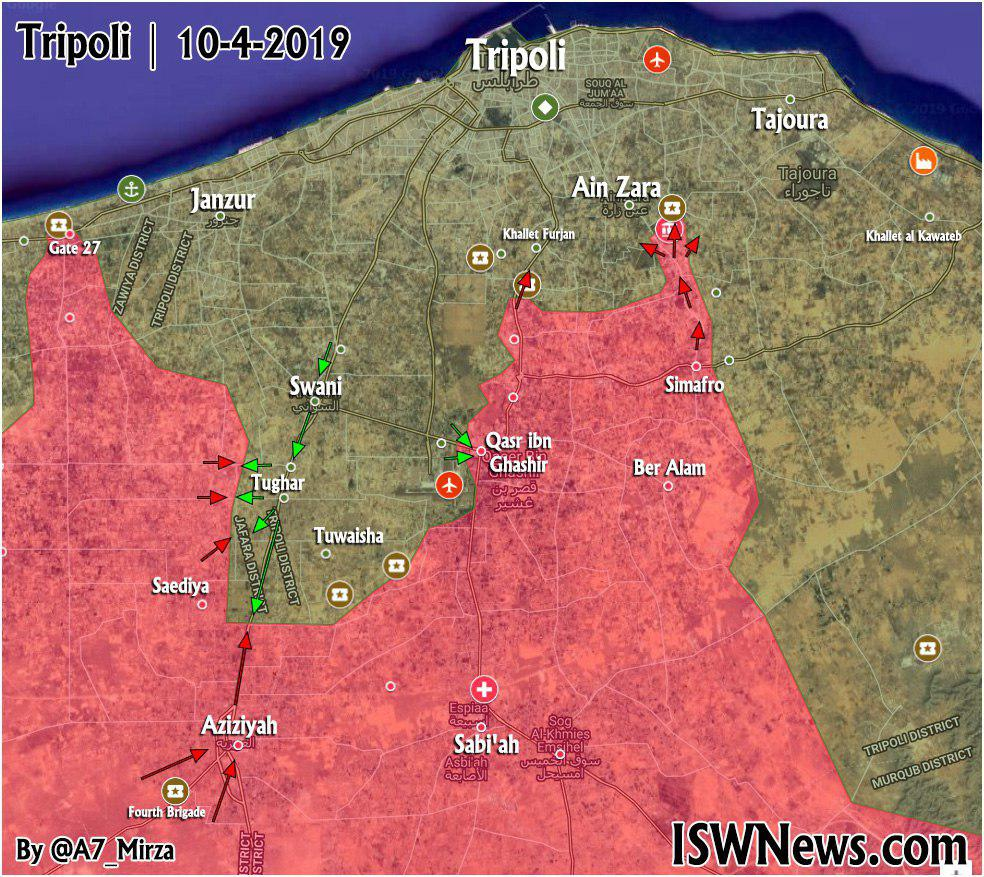 Map Update: Libyan National Army's Progress South Of Tripoli