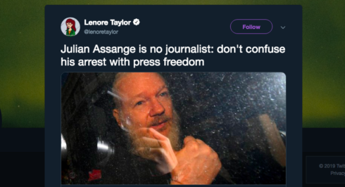 """Caitlin Johnstone: """"The US Government Won't Care About Your Definition Of Journalism After The Assange Precedent Is Set"""""""