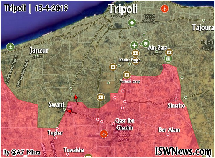 Map Update: Progress Of Libyan National Army Advance In Tripoli Countryside