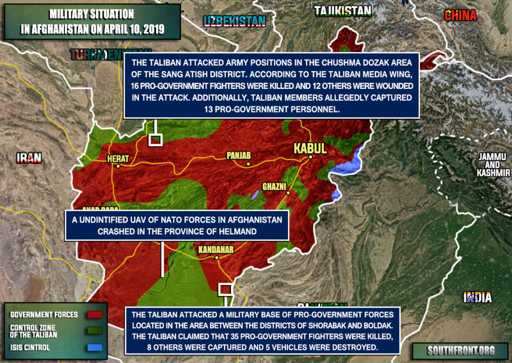 Military Situation In Afghanistan On April 10, 2019 (Map Update)