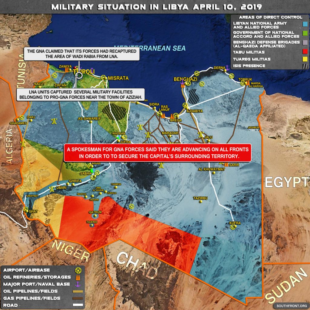 Military Situation In Libya On April 10, 2019 (Map Update)