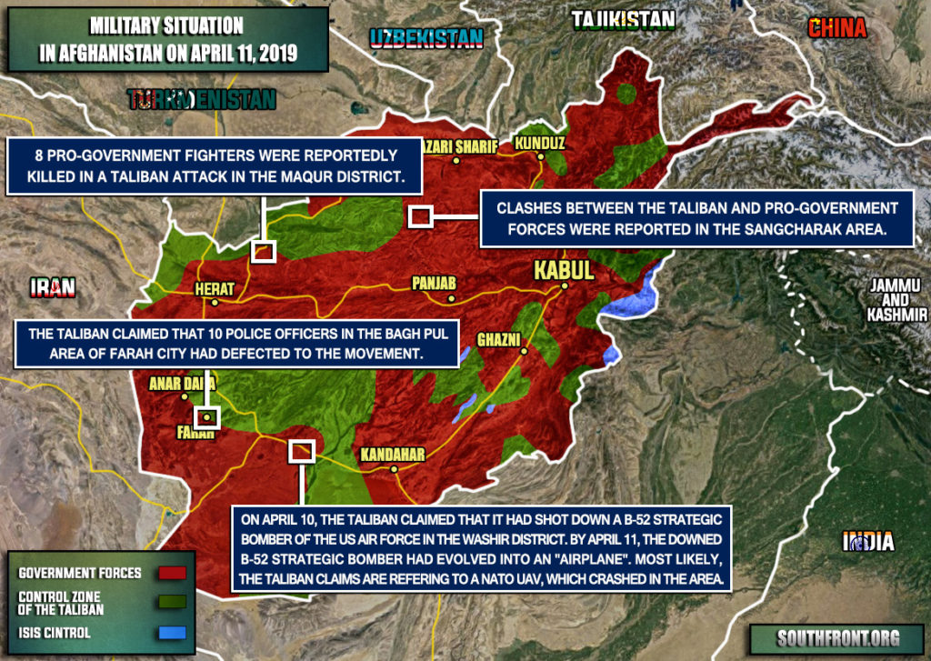 Military Situation In Afghanistan On April 11, 2019 (Map Update)
