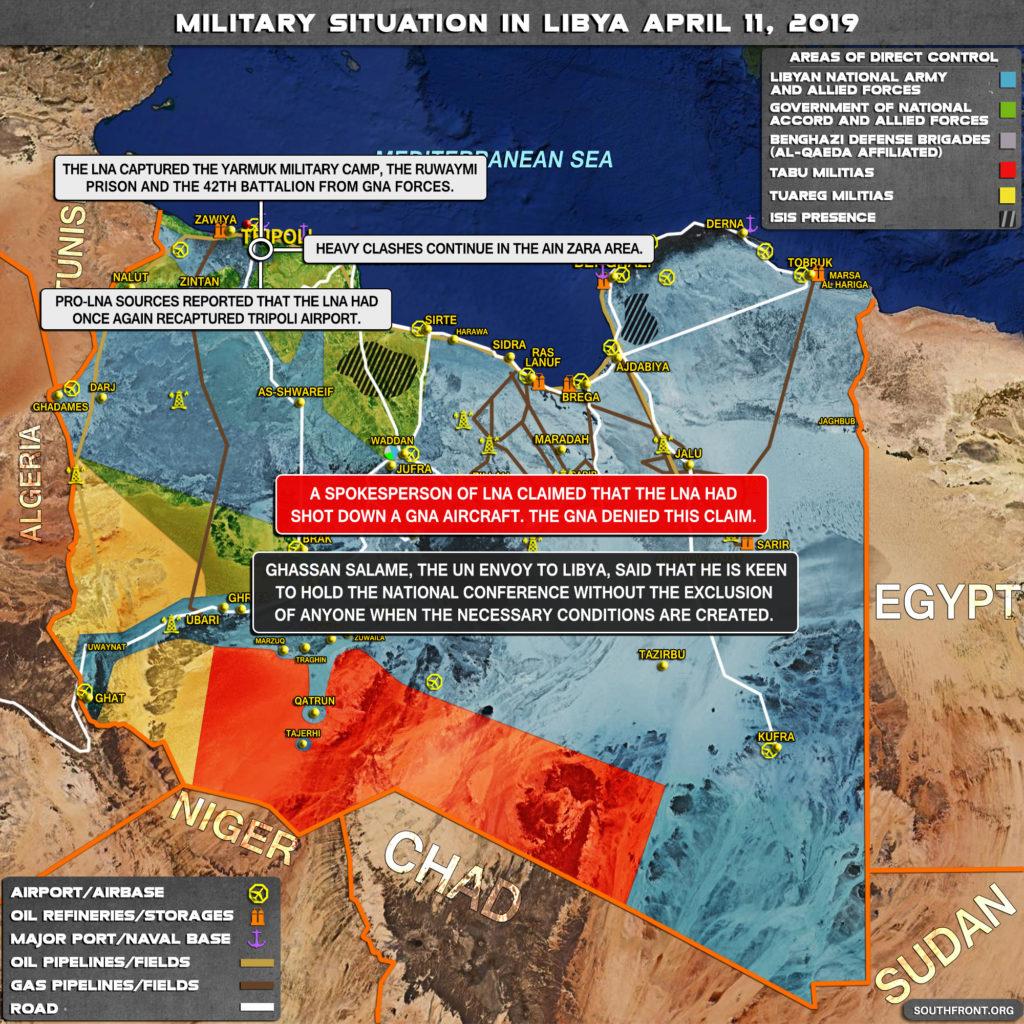 Vojenská Situácia V Líbyi Na 11. Apríla 2019 (Aktualizácia Máp)