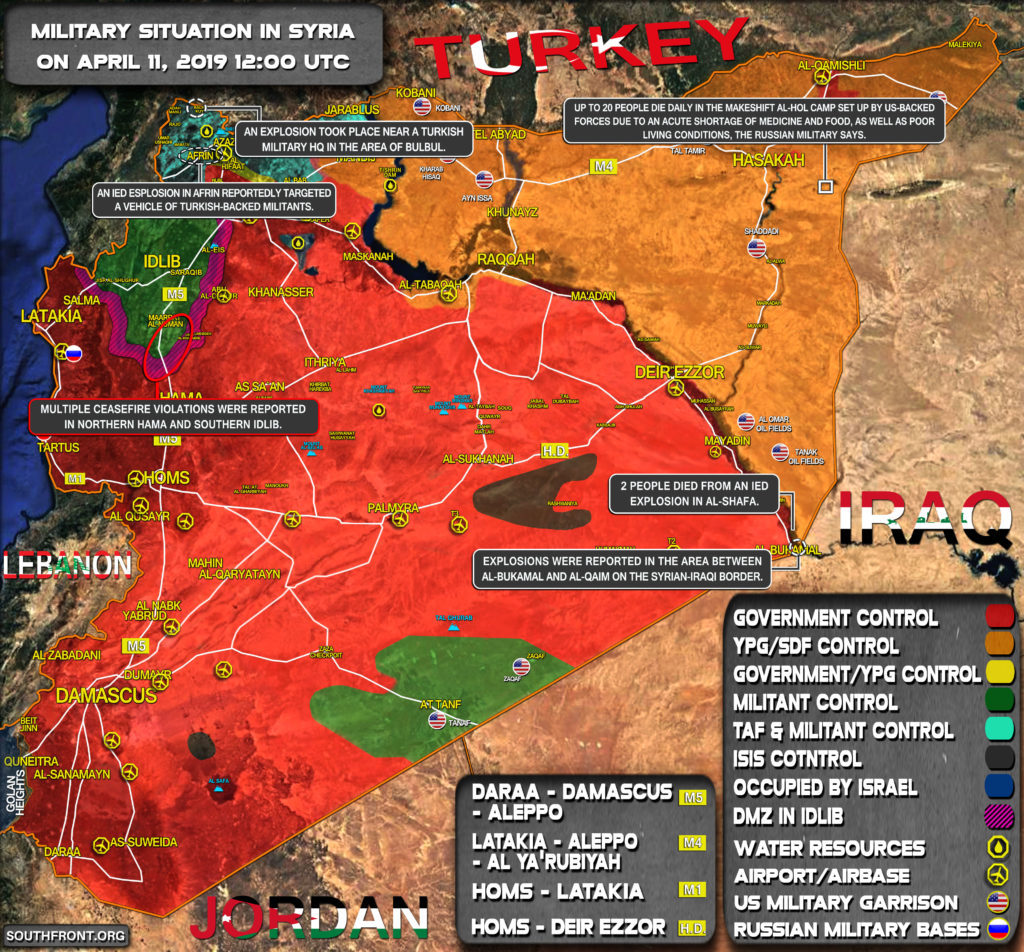 Military Situation In Syria On April 11, 2019 (Map Update)