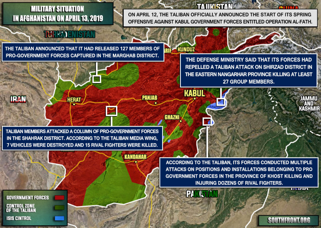 Map Update: Taliban Announces Start Of Spring Offensive