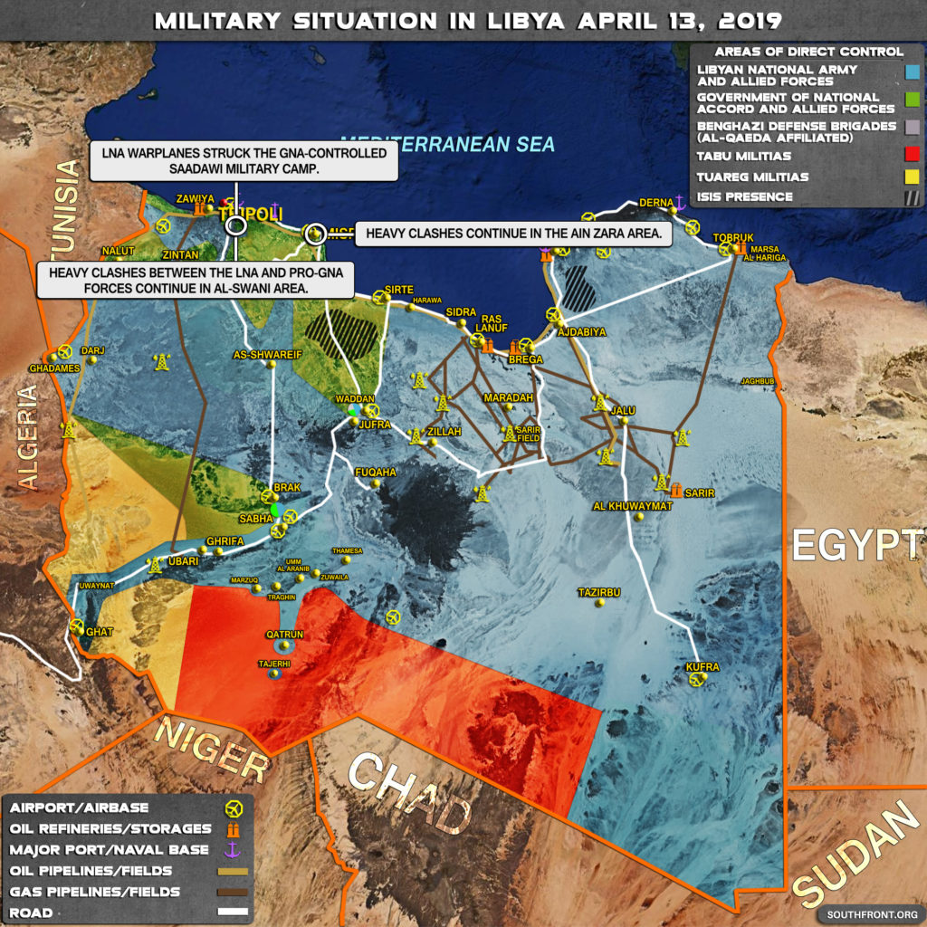 Military Situation In Libya On April 13, 2019 (Map Update)