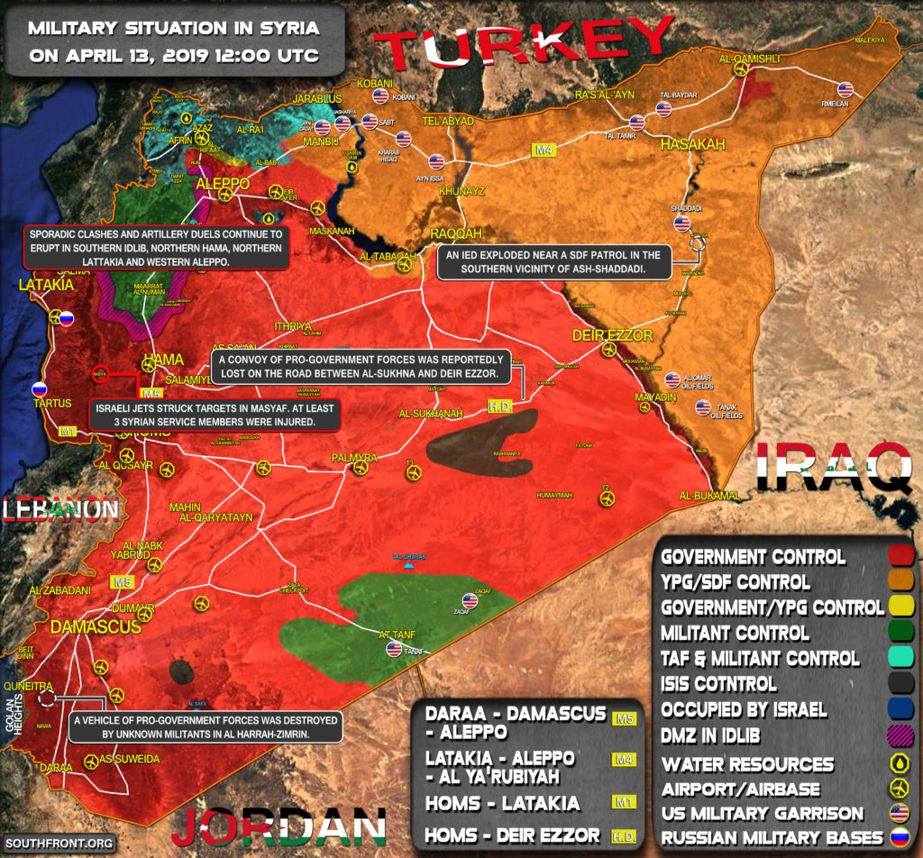 Military Situation In Syria On April 13, 2019 (Map Update)
