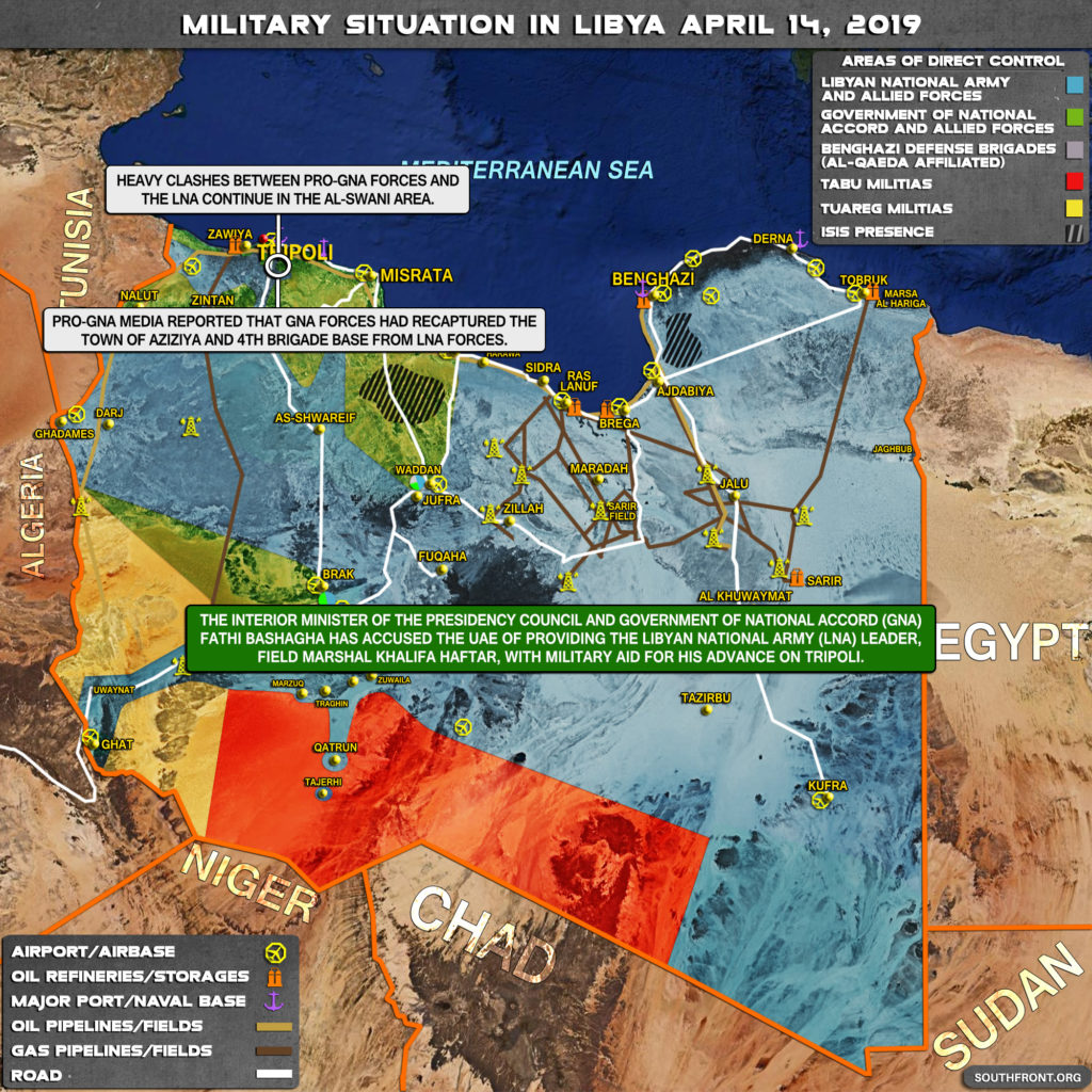 In Maps: Military Situation In Libya And Battle For Tripoli On April 14, 2019