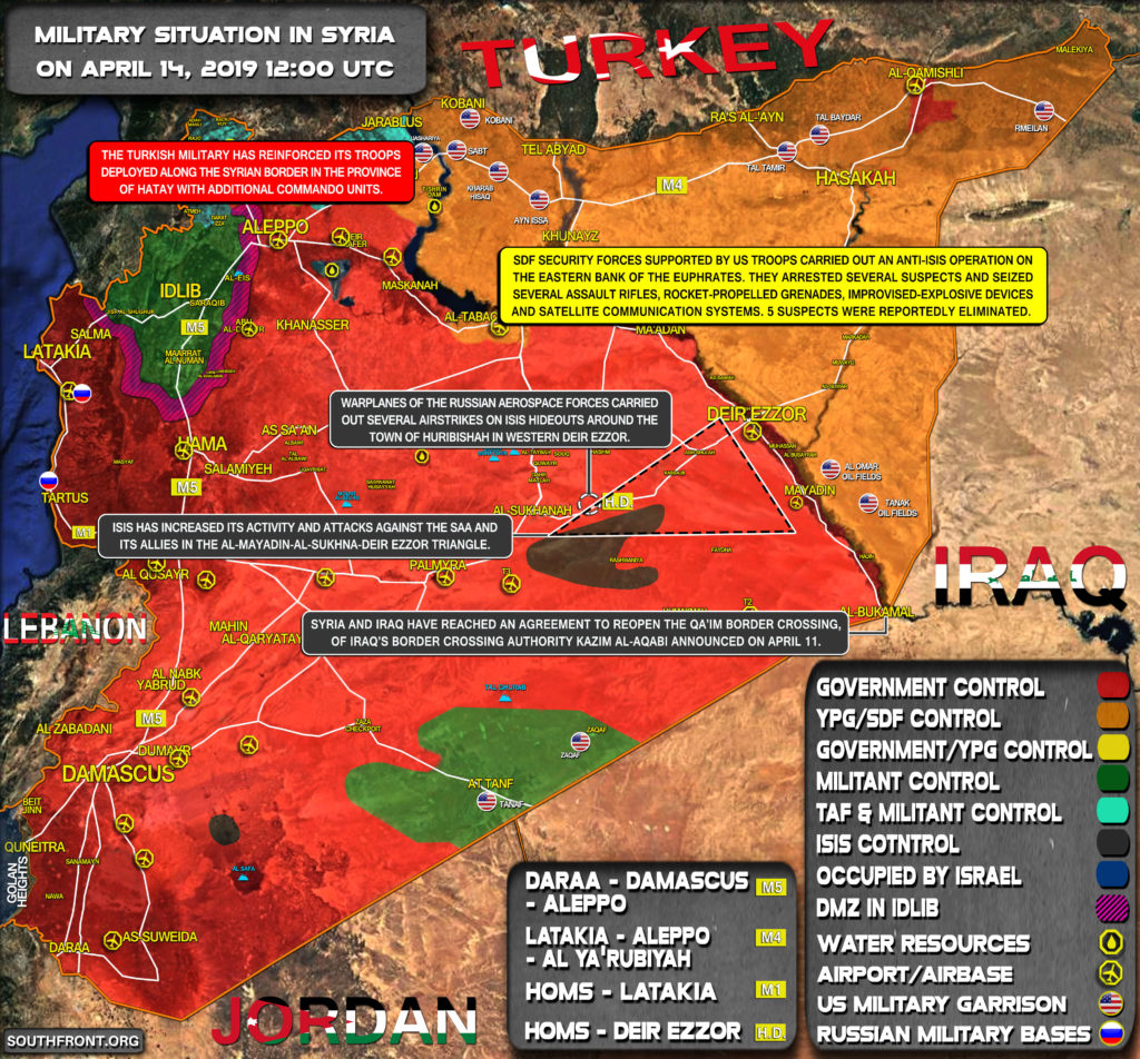 Military Situation In Syria On April 14, 2019 (Map Update)