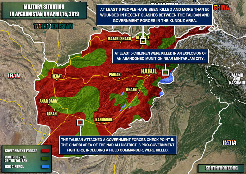 Military Situation In Afghanistan On April 15, 2019 (Map Update)