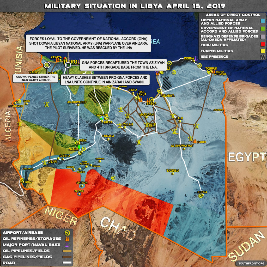 Military Situation In Libya On April 15, 2019 (Map Update)